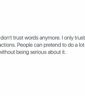 trust, pretend and without
