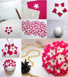 felt, flowers and crafts