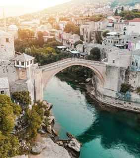 bosna i hercegovina, mostar and old town