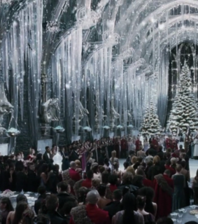 white, yule ball and snow