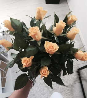 peach, luxe and flowers
