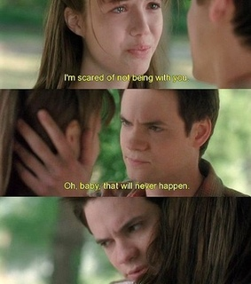 a walk to remember, being with you and i39m scared of not