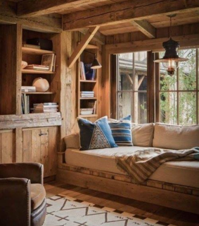 rustic, log cabin and decor