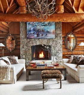 log cabin, home and rustic