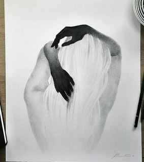 dark, draw and black and white