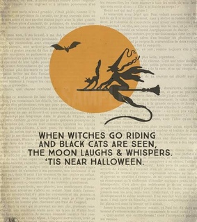 black cats, saying and witches