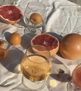 golden hour, apricot and drink