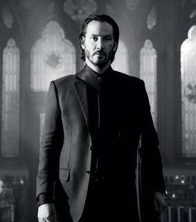 john wick, suit and tie and keanu reeves