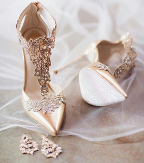 heel, sparkle and girl