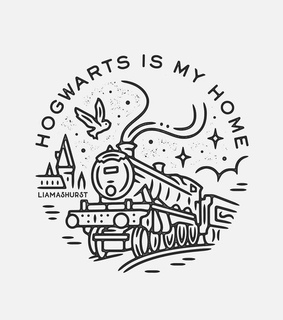 harry potter, hogwarts express and drawing