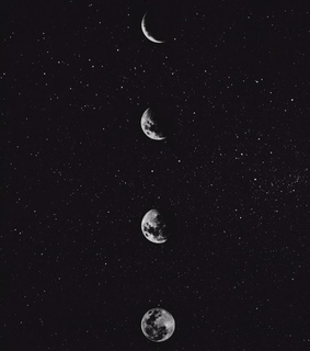 moon, phases and sky