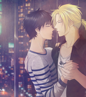ash x eiji, ash lynx and banana fish