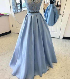 lace prom dress, prom dress a line and prom dress two piece