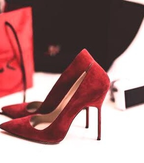 red shoes, classy and glamorous