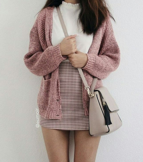 fall outfit, cute outfits and pink outfit