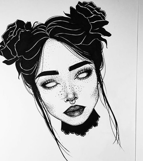drawing, black and artist
