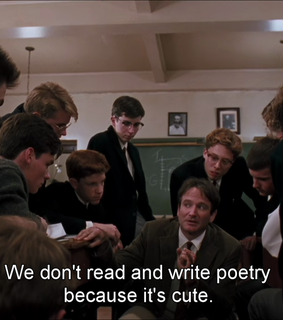 books, poetry because its cute and film