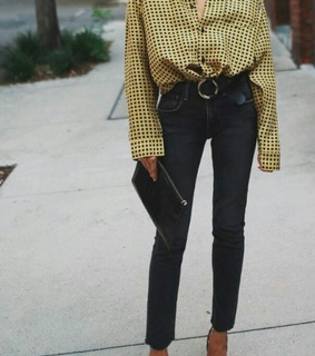 fashion, black and yellow and pretty