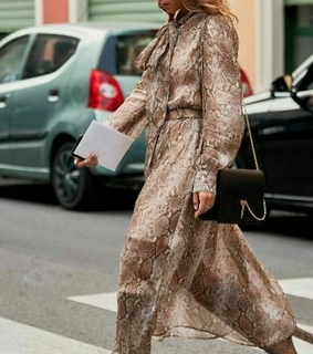 street style, model and animal print