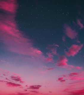 clouds, sky and pink sunset