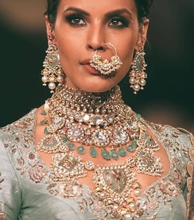 nosering, earrings and desi