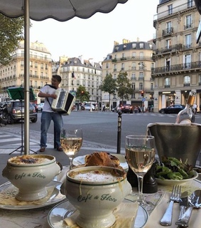 french, cafe de flore and travel