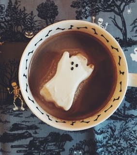 october, drink and ghost