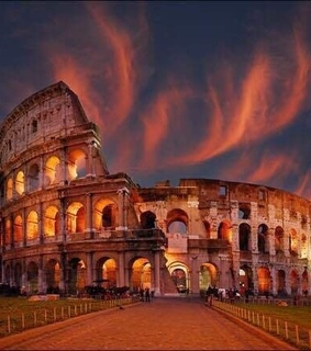 magic, sunset and italy