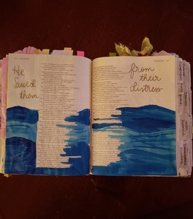 journaling, art and bible