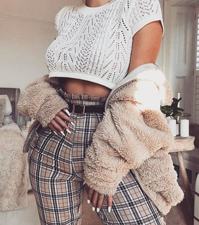 knit top, fashion inspo and burberry