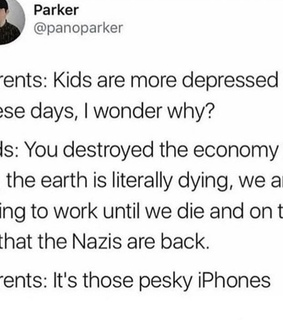 depressed, parents and dying