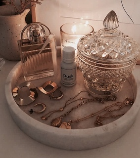 candle, jewlery and vanity
