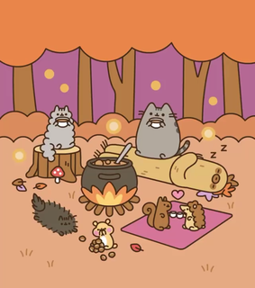 pusheen wallpaper, autumn wallpaper and autumn
