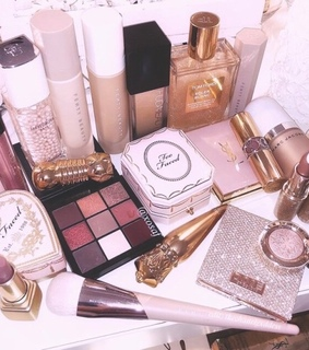 dior, huda beauty and tom ford