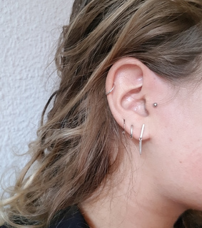 ear, earpiercing and piercing
