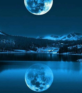 wallpapers, river and blue moon