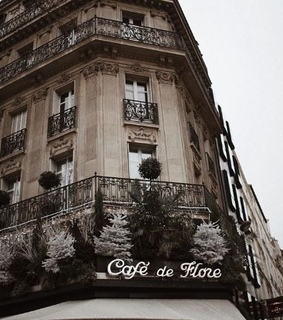 french, cafe de flore and aesthetic