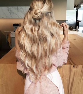 beuty, hairstyle and style