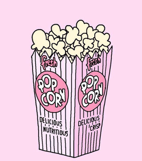 pink, pop corn and fonds