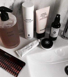 beauty products, soap and cleanser
