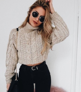 cold, black pants and sunglasses