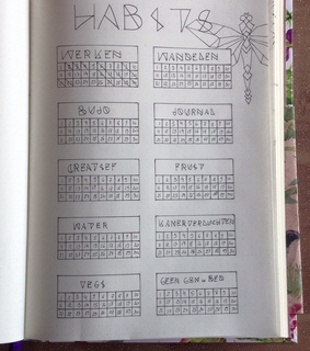 bullet journal, geometric and dragonfly