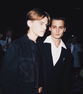 young depp, young dicaprio and beautiful