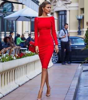 fashion dress, mode and red