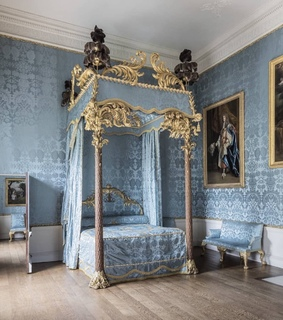 neoclassical, bed and bedroom