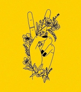 yellow, outline and happiness