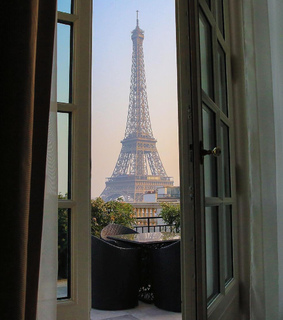 paris, view and eiffel tower