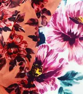 floral, textile and design