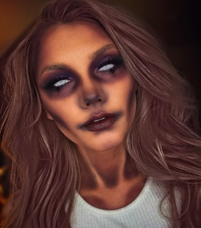 spooky, halloween and aesthetic makeup