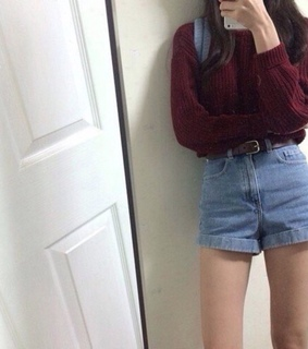 red, maroon and belt